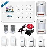 KERUI W18 GSM WIFI Sistema de Alarma Seguridad para Hogar por CALL/SMS/APP, Kits Alarma Antirrobo Inalámbrico DIY con Detector/Sensor de Movimiento...