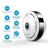 960P HD IP WiFi Cámara de Seguridad FREDI, Cámara de Vigilancia Panorámica de 360 Grados, Deteccion de Movimiento con Visión Nocturna de...