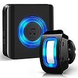 Detector de Movimiento Exterior - Sensor de Movimiento Interior con Timbre Inalámbrico - Timbre de Tienda Satisure, 58 Tonos timbre Alarma de Entrada...