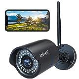 ieGeek Cámara de Vigilancia Exterior, Cámara de Seguridad Wi-Fi 1080P, Versión Nocturna 25M, Impermeable IP66, Detección de Movimiento, Empuje de...