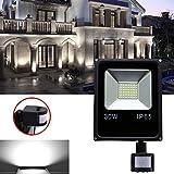 Hengda® 30W Blanco frío Foco proyector Exterior LED detección de movimiento PIR sensor Resistente al agua con Sensor LED IP65