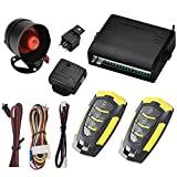 Sistema de Alarma para Coche, Alarma de Coche, Universal12 V con 2 Controles remotos y Sensor de Sirena Bloqueo, desbloqueo automático de Puertas y...
