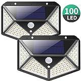Luz Solar Exterior, iPosible [Versión Actualizada] 100 LED Foco Solar con Sensor de Movimiento Gran Ángulo 270º Impermeable Inalámbrico Lámpara...