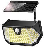 Cocoda Luces LED Solares para Exteriores, [Panel Solar Separable] 137LEDs Luz Solar Exterior con Sensor Movimiento, 3 Modos y 270°Iluminación, IP65...