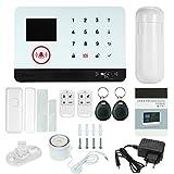 OWSOO 433MHz Sistema de Alarma GSM SMS, Pantalla LCD, Control Remoto de Phone APP, Alarma de Marcación Automática, con Sensor de Puerta/Sensor de...